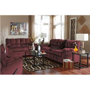 Signature Design by Ashley Julson - Burgundy Stationary Living Room Group