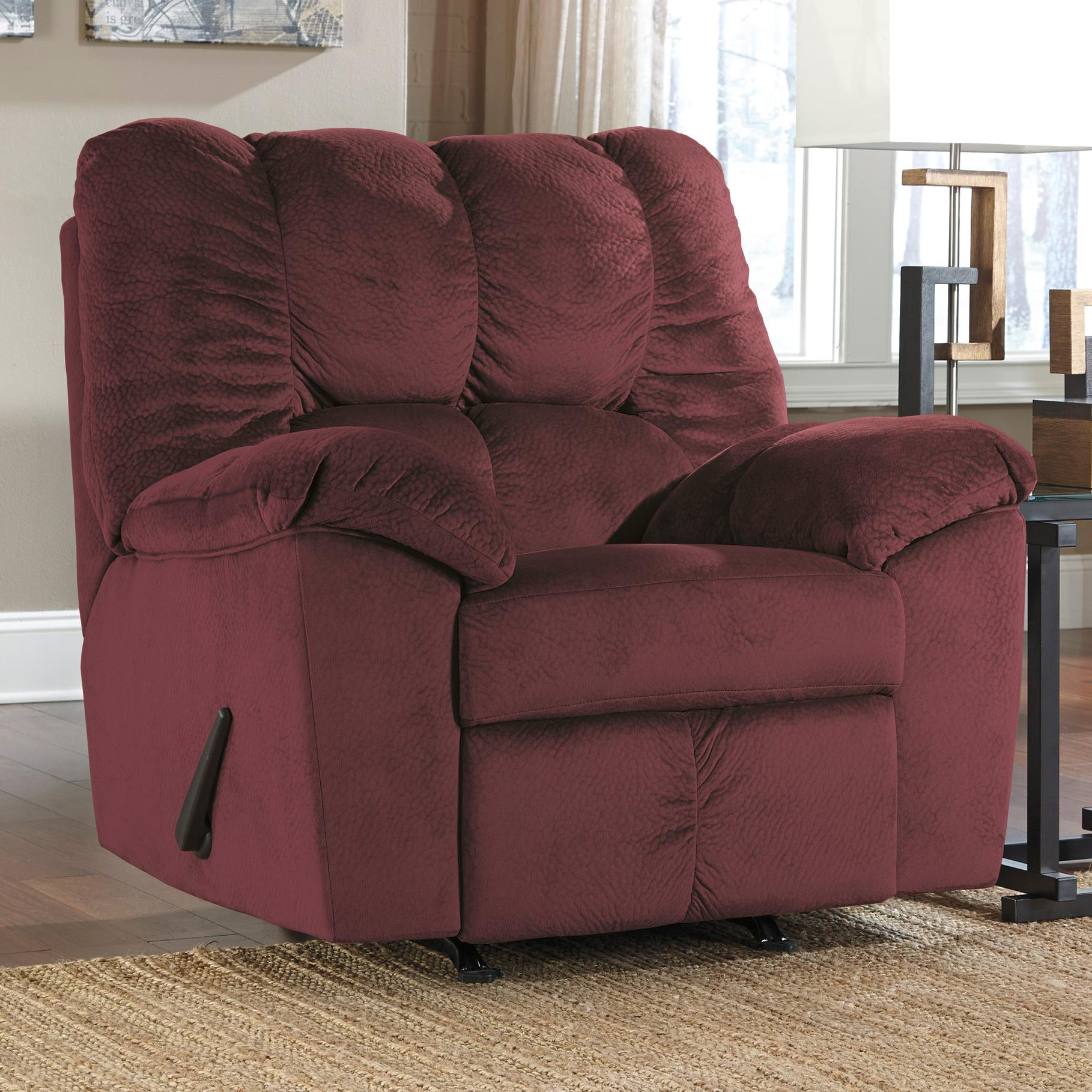 Signature Design by Ashley Julson - Burgundy Rocker Recliner - Item Number: 2660225