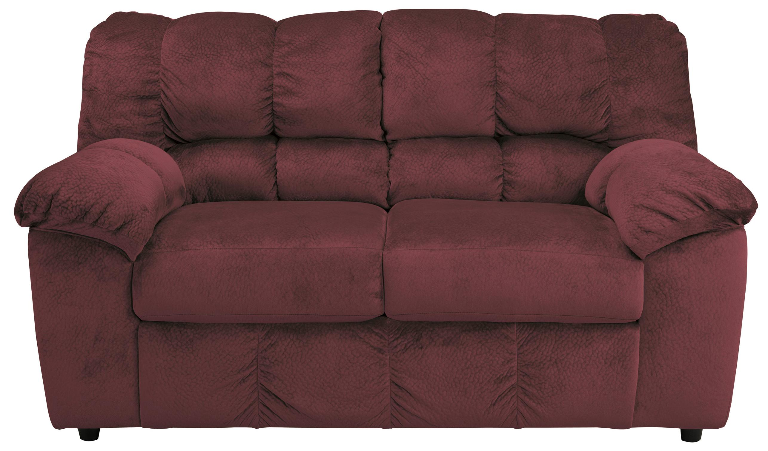 Signature Design by Ashley Julson - Burgundy Loveseat - Item Number: 2660235