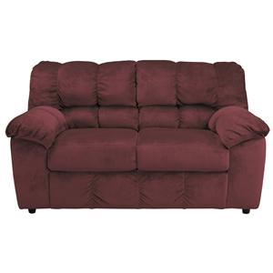 Signature Design by Ashley Julson - Burgundy Loveseat