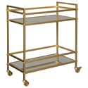 Signature Design by Ashley Kailman Bar Cart - Item Number: A4000095