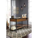 Signature Design by Ashley Kalean Distressed Pine & Steel Home Office Lift Top Desk/Standing Desk