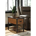 Signature Design by Ashley Kalean Modern Rustic Chair Side End Table
