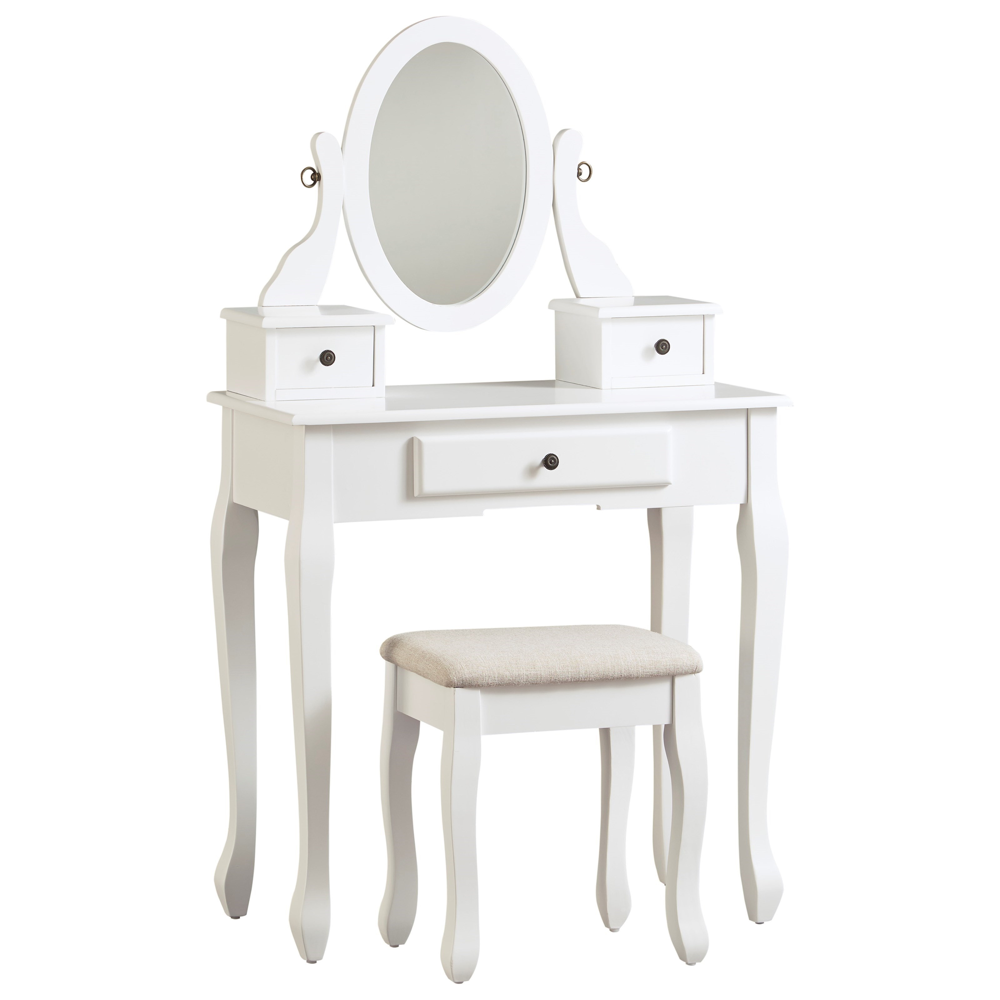 Kaslyn Vanity with Mirror and Stool by Ashley (Signature Design) at Johnny Janosik