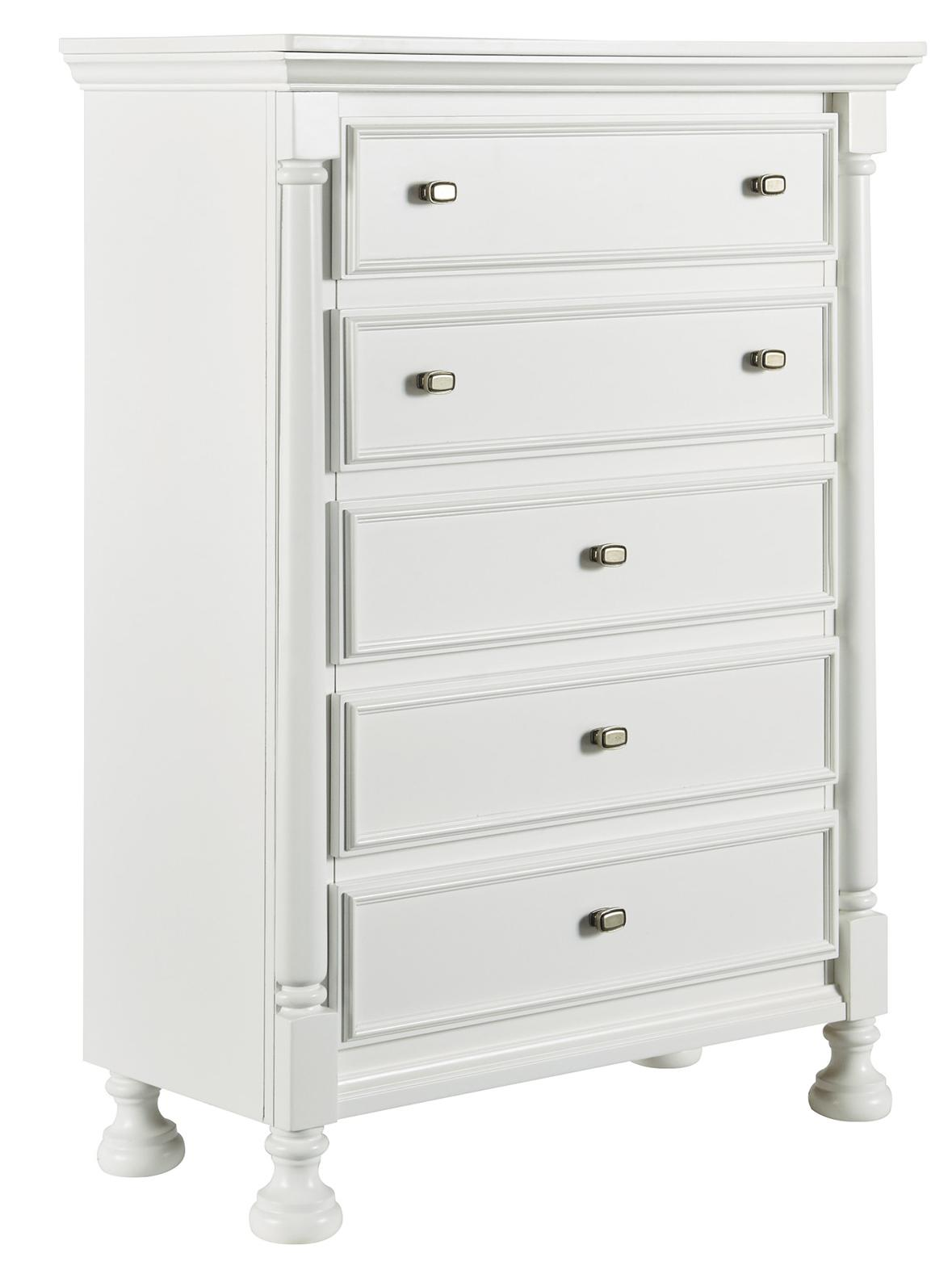 Signature Design by Ashley Kaslyn Five Drawer Chest - Item Number: B502-45