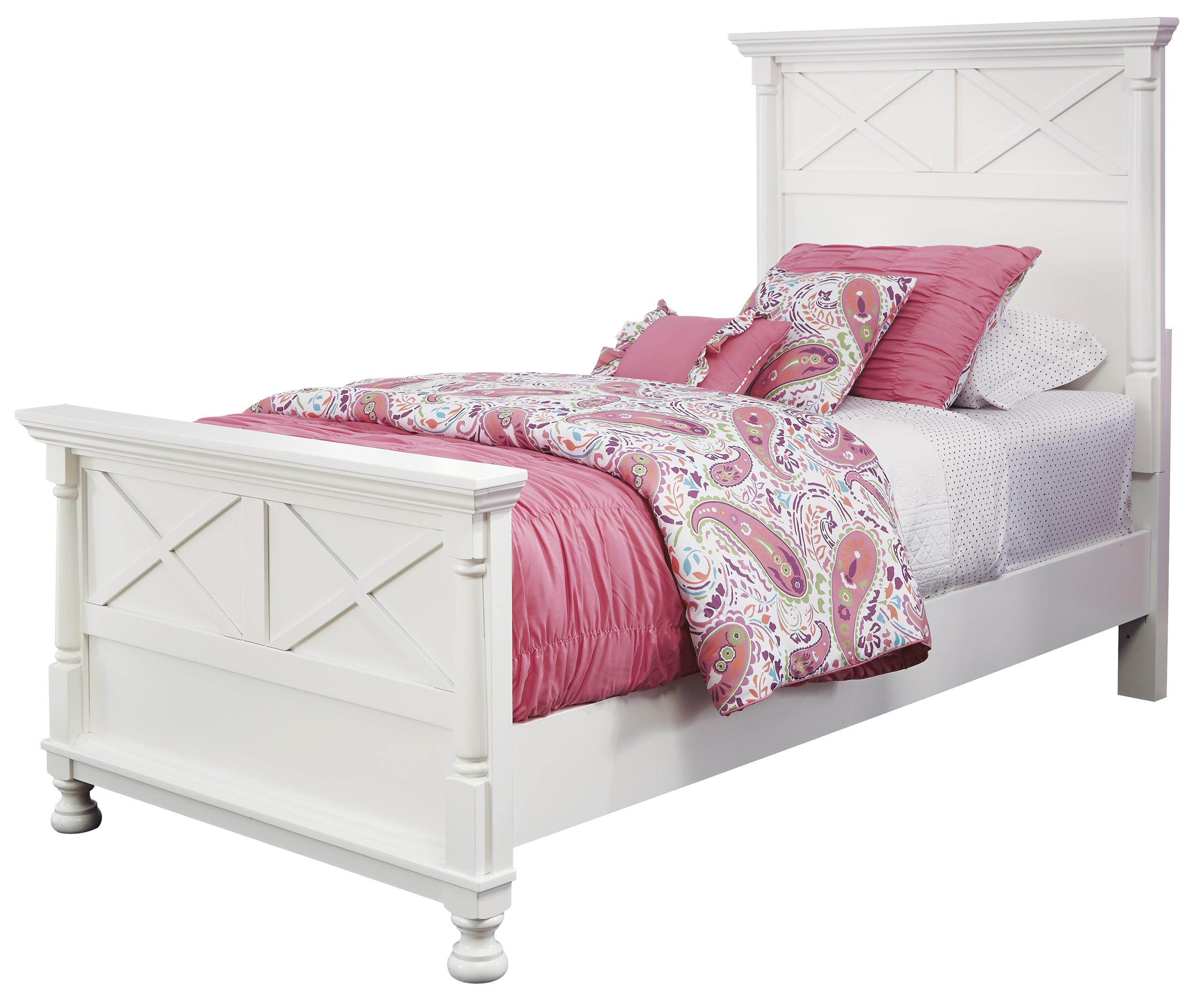 Signature Design by Ashley Kaslyn Twin Panel Bed - Item Number: B502-53+52+83