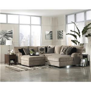 Signature Design by Ashley Katisha - Platinum Stationary Living Room Group