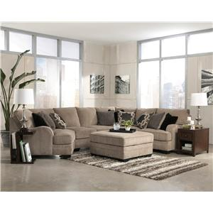 Signature Design by Ashley Furniture Katisha - Platinum Stationary Living Room Group