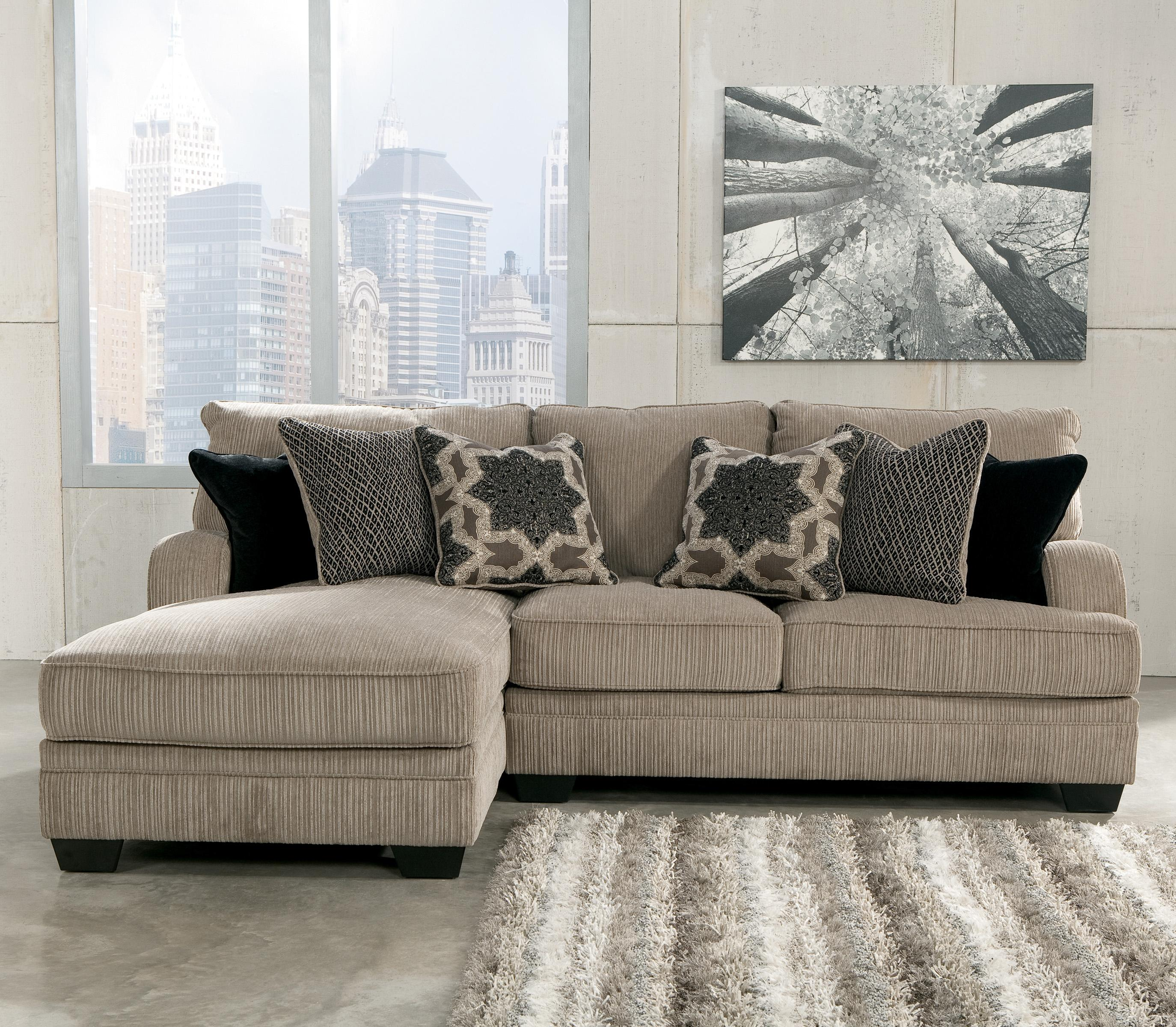 Signature Design by Ashley Katisha - Platinum 2-Piece Sectional with Left Chaise - AHFA - Sofa Sectional Dealer Locator : 2 piece chaise sectional - Sectionals, Sofas & Couches