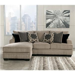 Signature Design by Ashley Katisha - Platinum 2-Piece Sectional with Left Chaise