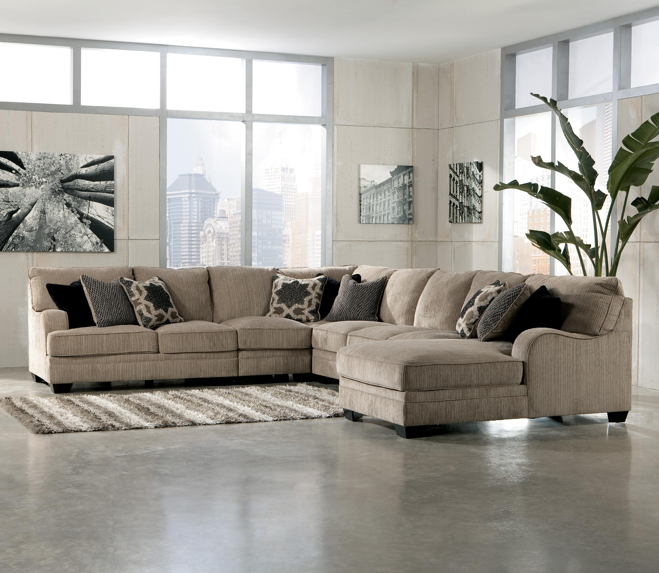 Etonnant Katisha   Platinum 5 Piece Sectional Sofa With Right Chaise By Signature  Design By Ashley