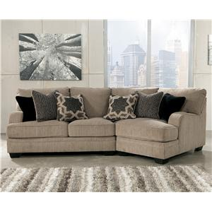 Signature Design by Ashley Furniture Katisha - Platinum 2-Piece Sectional with Right Cuddler
