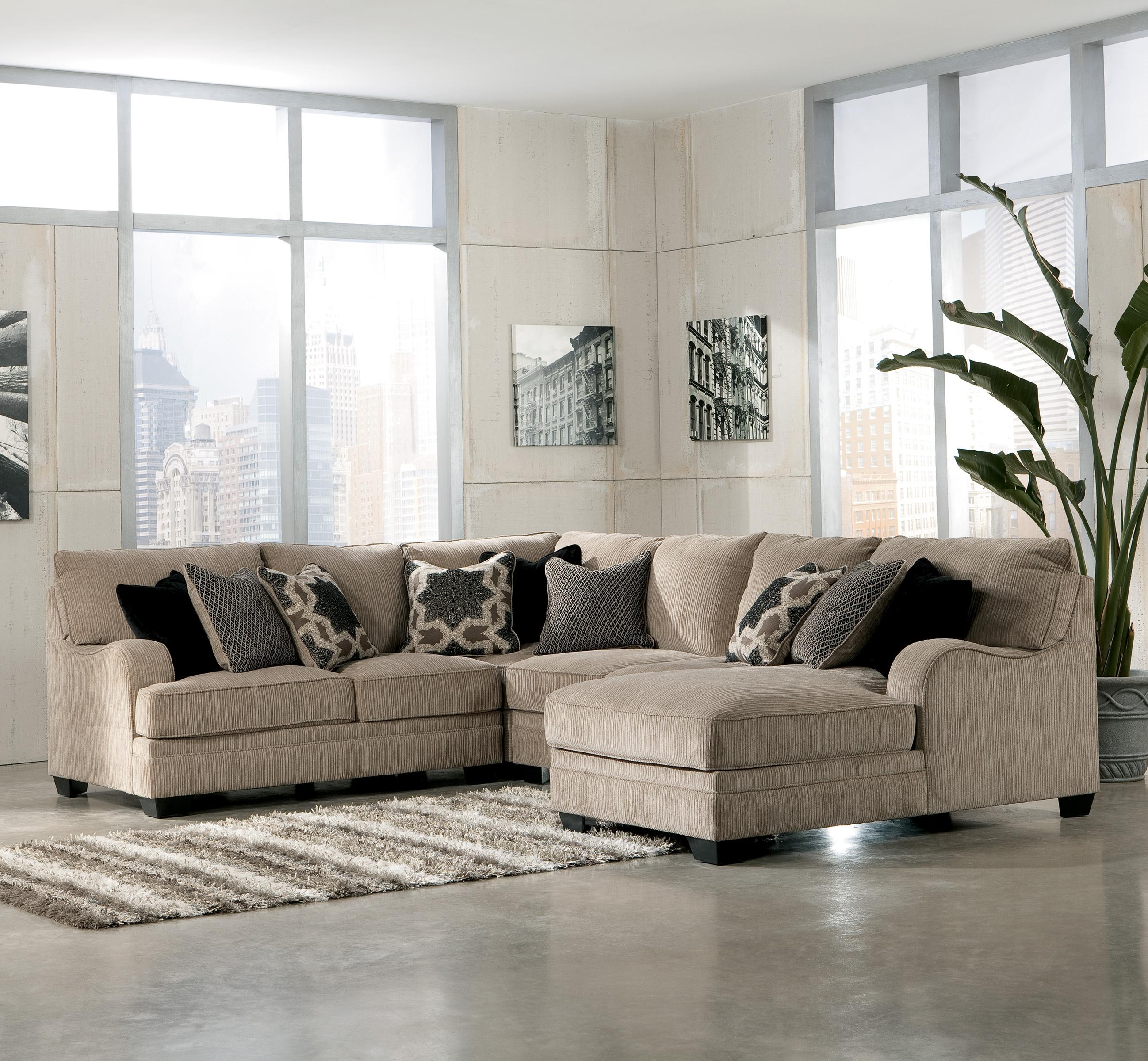 Signature Design by Ashley Katisha Platinum 4 Piece Sectional