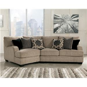 Signature Design by Ashley Furniture Katisha - Platinum 2-Piece Sectional with Left Cuddler