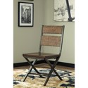 Signature Design by Ashley Kavara Distressed Pine Wood/Metal Dining Room Chair