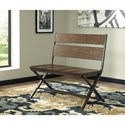Signature Design by Ashley Kavara Distressed Pine Wood/Metal Double Dining Chair