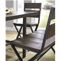 Signature Design by Ashley Kavara Medium Brown Bar Stool w/ Shaped Foot Rest and Pine Veneers