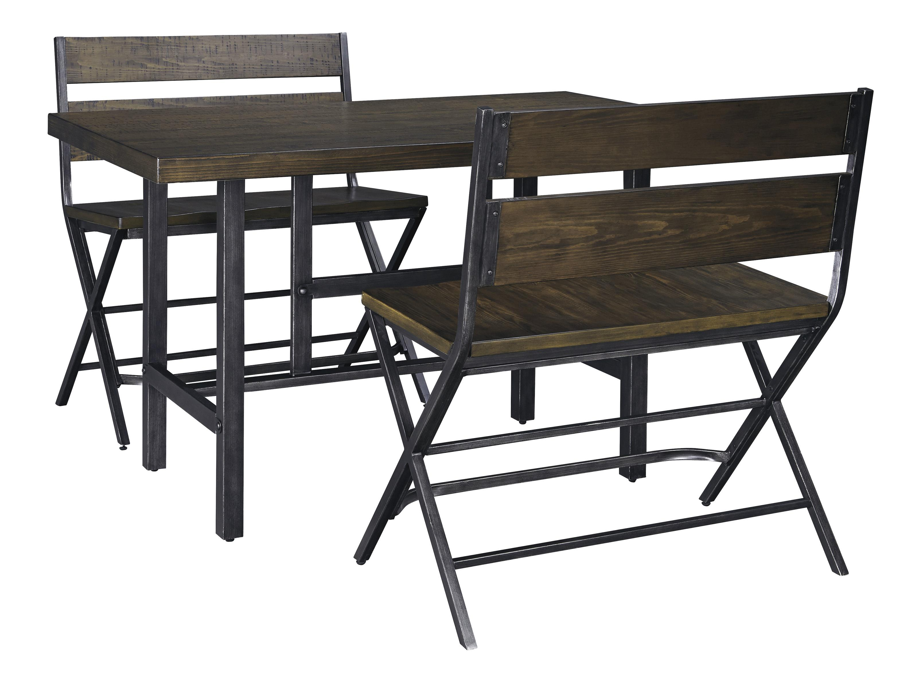 Signature Design by Ashley Kavara 3-Piece Counter Table & Double Bar Stool Set - Item Number: D469-13+2x323
