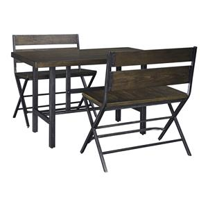 Signature Design by Ashley Kavara 3-Piece Counter Table & Double Bar Stool Set