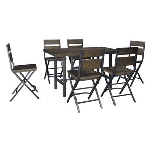 Signature Design by Ashley Kavara 7-Piece Counter Table w/ 6 Bar Stool Set