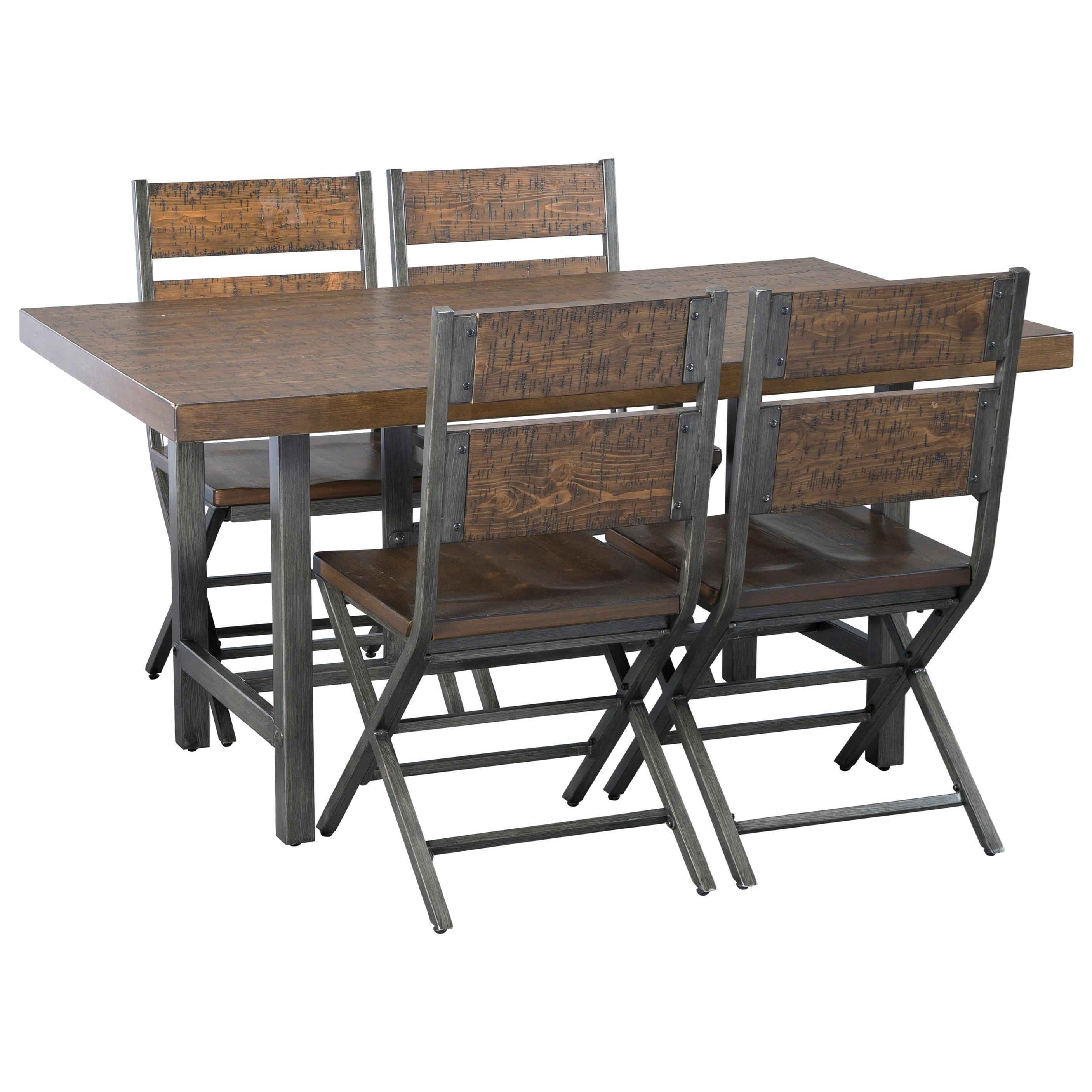 5-Piece Rectangular Dining Table Set
