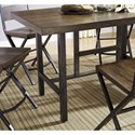 Signature Design by Ashley Kavara 5-Piece Distressed Pine/Metal Rectangular Dining Table Set - Counter Height Table Shown