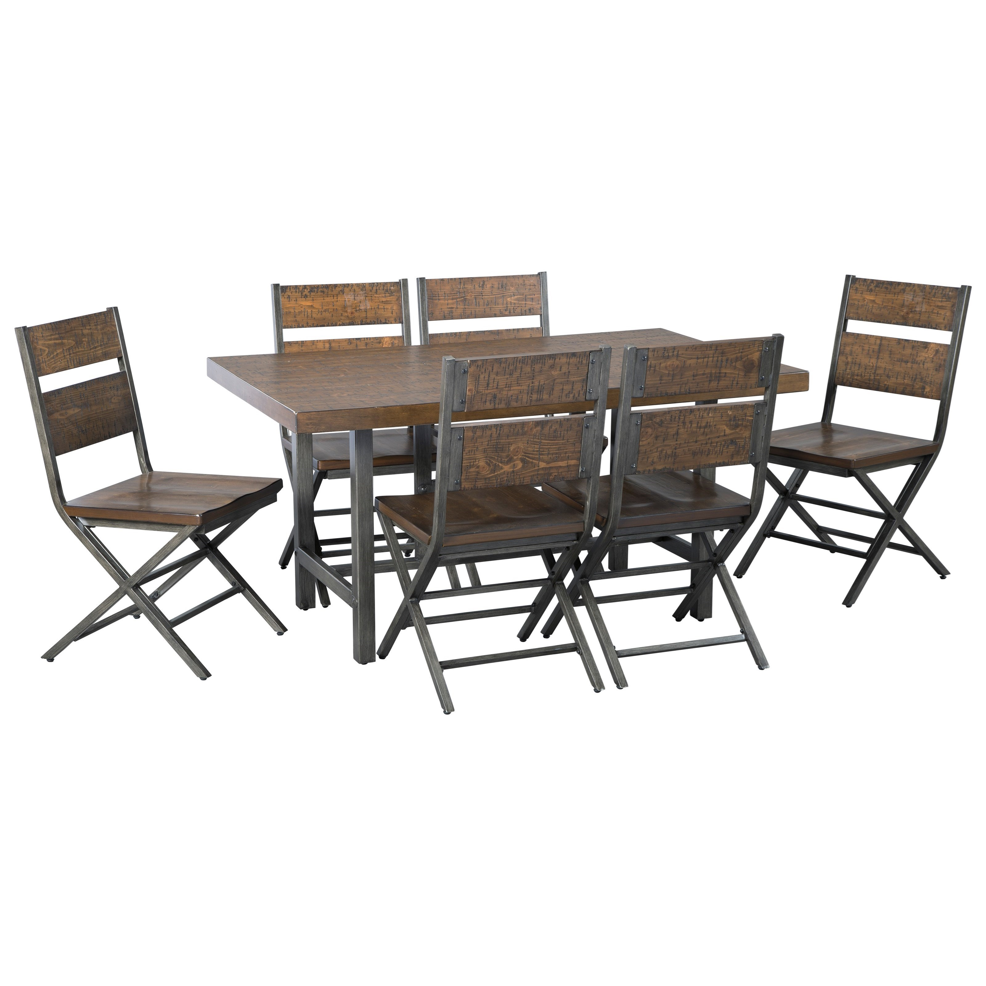 Ashley Furniture Dining Set: Signature Design By Ashley Kavara 7-Piece Distressed Pine