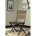 Signature Design by Ashley Kavara 7-Piece Distressed Pine/Metal Rectangular Dining Table Set