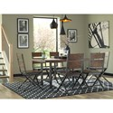 Signature Design by Ashley Kavara Distressed Pine Wood/Metal Rectangular Dining Room Table