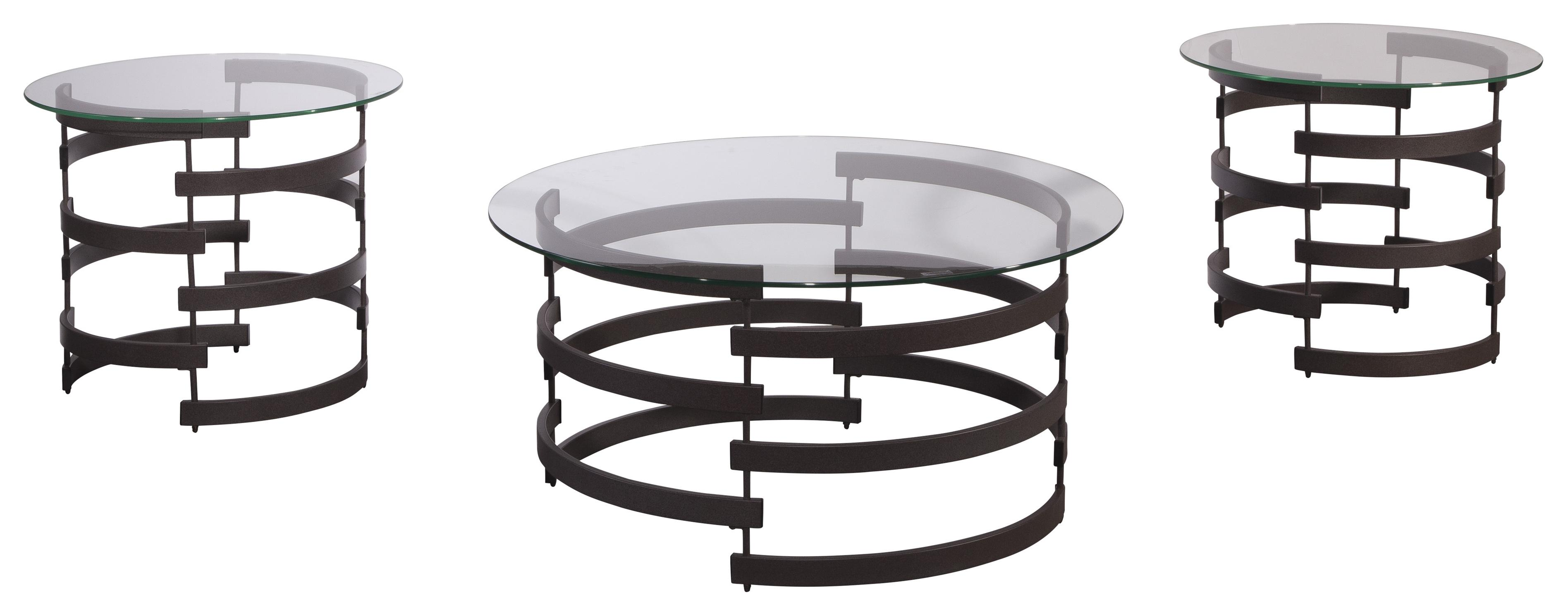 Signature Design By Ashley Kaymine Modern Occasional Table Set Value City Furniture