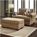 Signature Design by Ashley Kelemen - Amber Chair and a Half & Ottoman - Item Number: 4710023+14