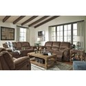 Ashley (Signature Design) Kellerhause Reclining Living Room Group - Item Number: 75703 Living Room Group 2