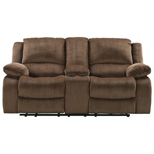 Signature Design by Ashley Katniss Double Reclining Power Loveseat w/ Console
