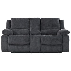 Signature Design by Ashley Kellerhause Double Reclining Power Loveseat w/ Console