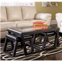 Signature Design by Ashley Kelton Rectangular Cocktail Table w/ Ottoman Pair - Item Number: T592-1