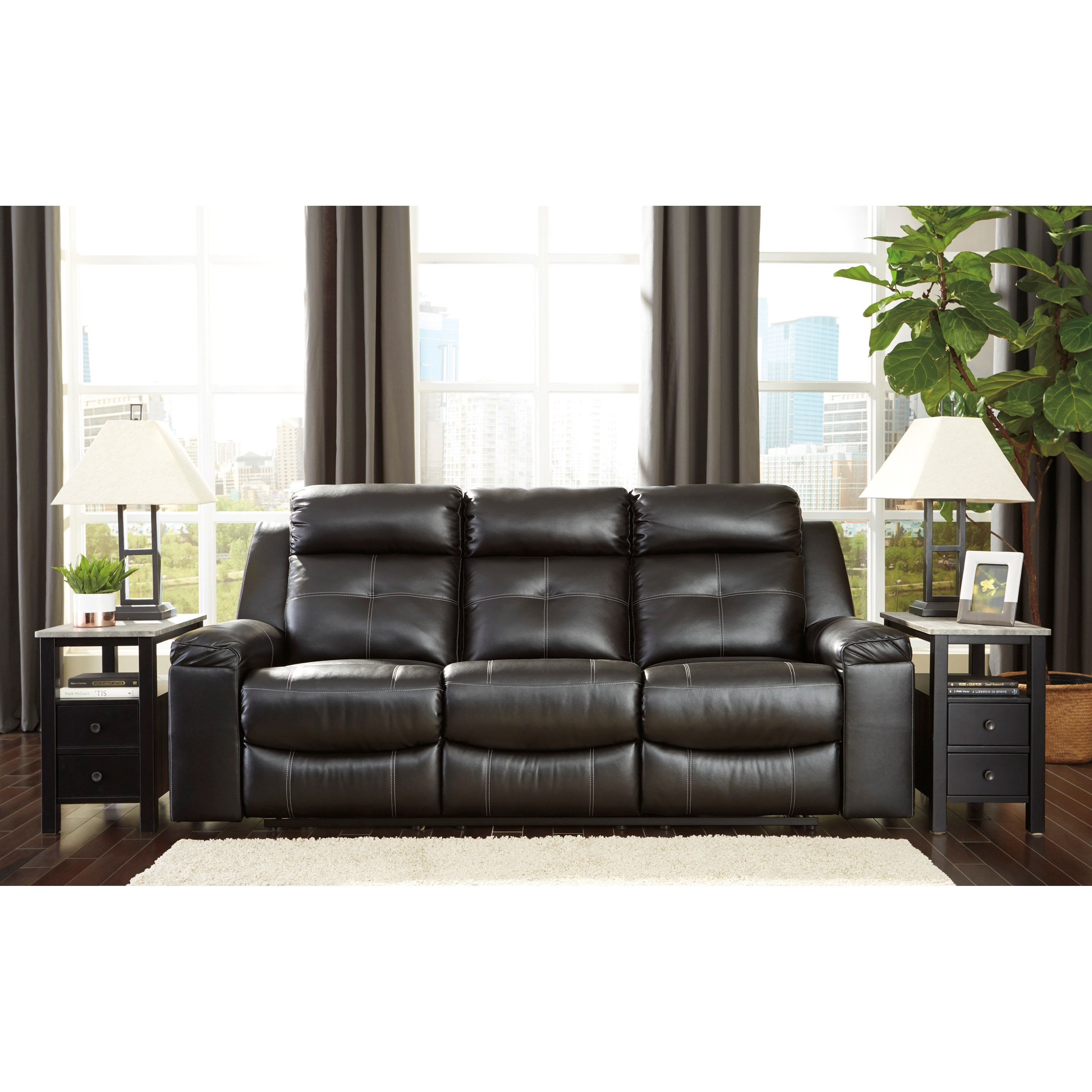 Signature Design By Ashley Kempten Contemporary Reclining