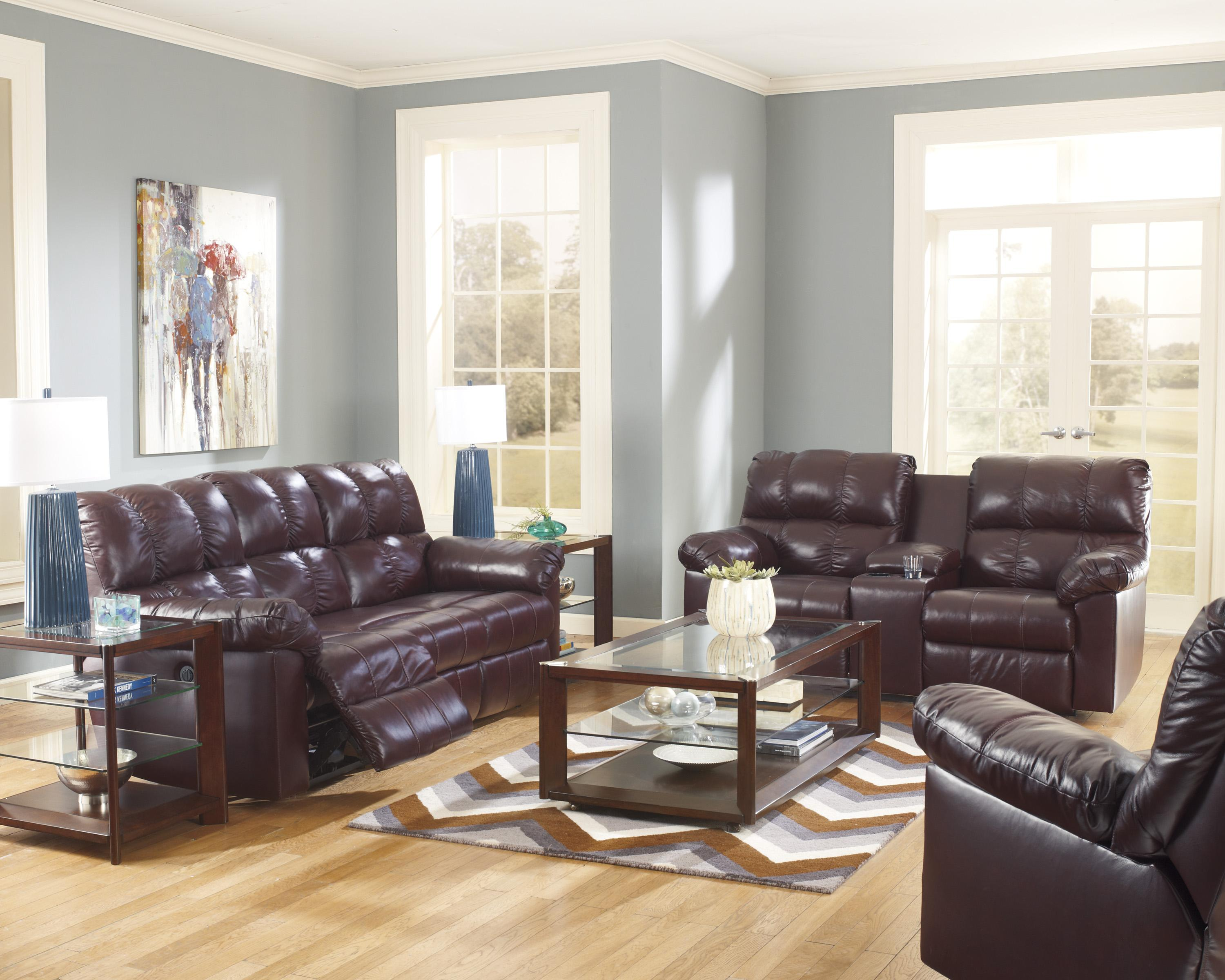Signature Design by Ashley Kennard - Burgundy Reclining Living Room Group - Item Number: 29000 Living Room Group 6