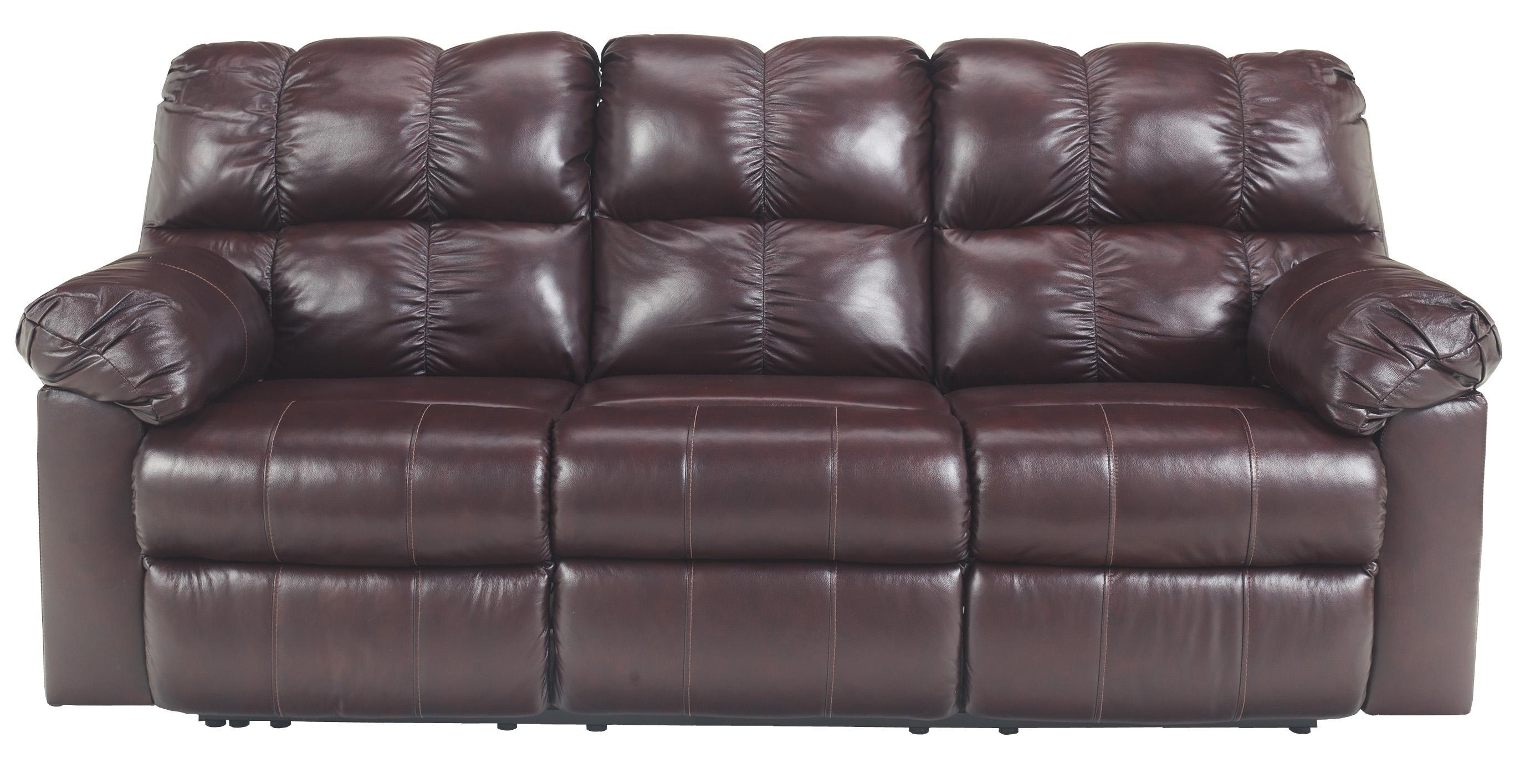 Signature Design by Ashley Kennard - Burgundy Reclining Sofa w/ Power - Item Number: 2900087