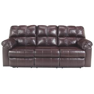 Signature Design by Ashley Kennard - Burgundy Reclining Sofa w/ Power