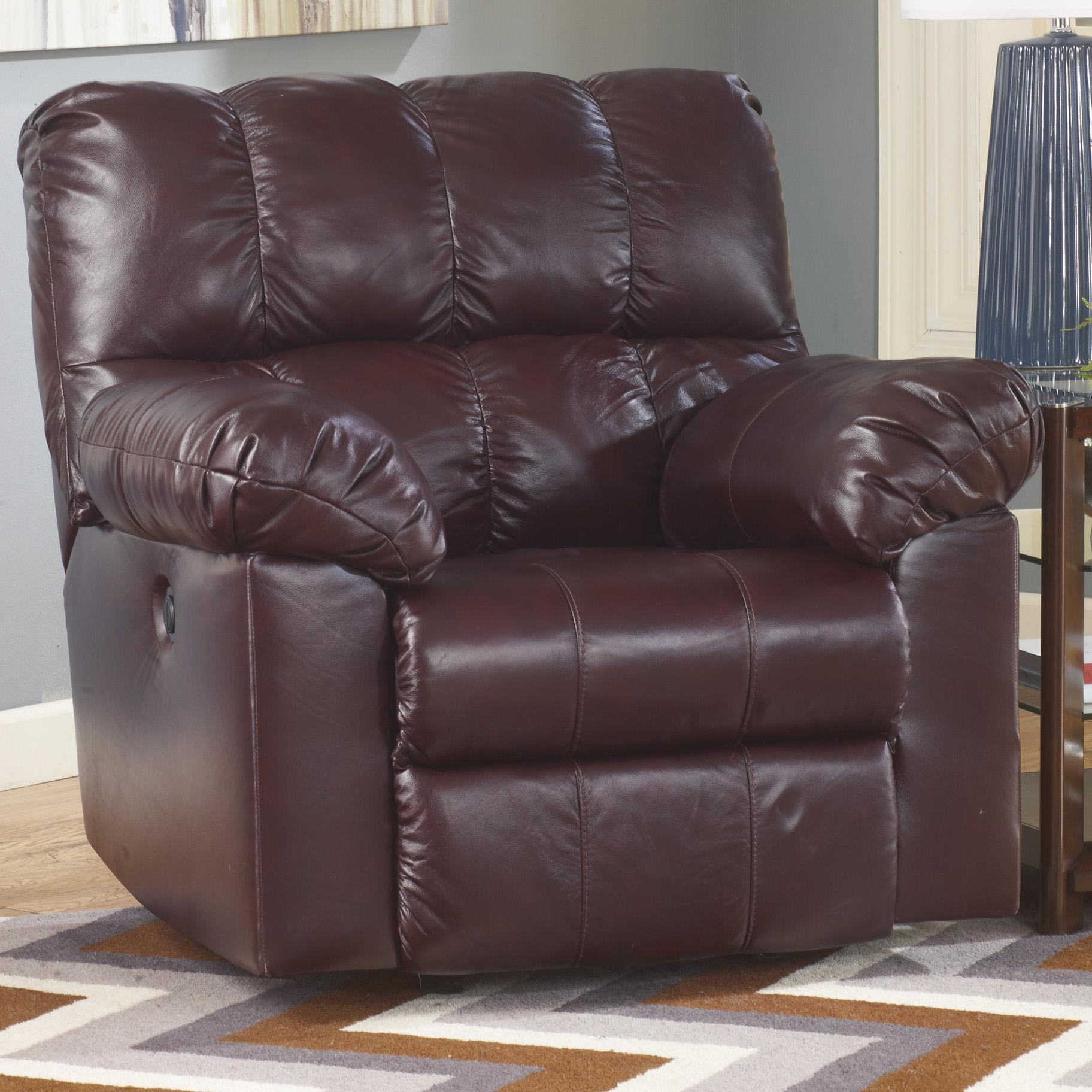 Signature Design by Ashley Kennard - Burgundy Power Rocker Recliner - Item Number: 2900098