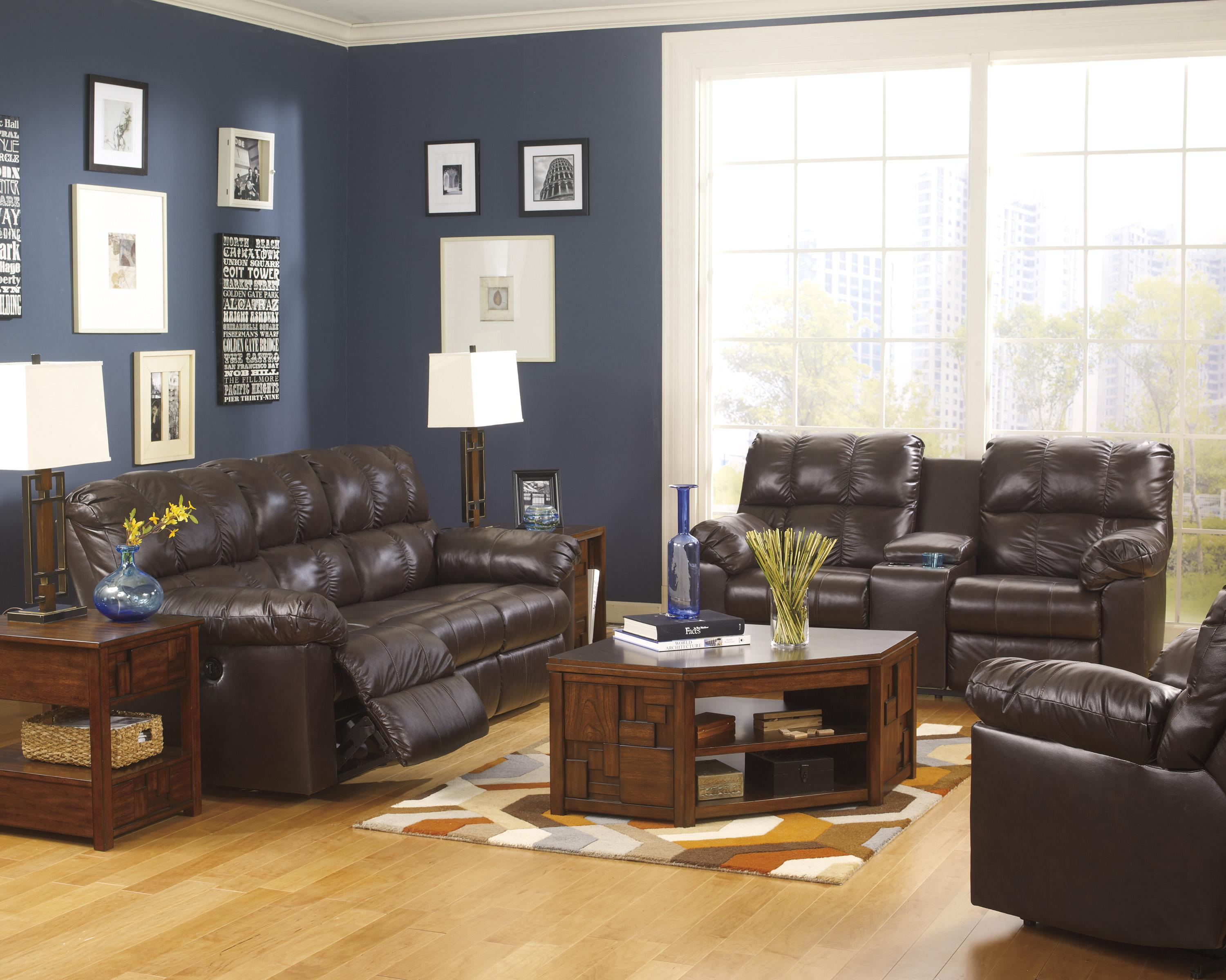 Signature Design by Ashley Kennard - Chocolate Reclining Living Room Group - Item Number: 29001 Living Room Group 6