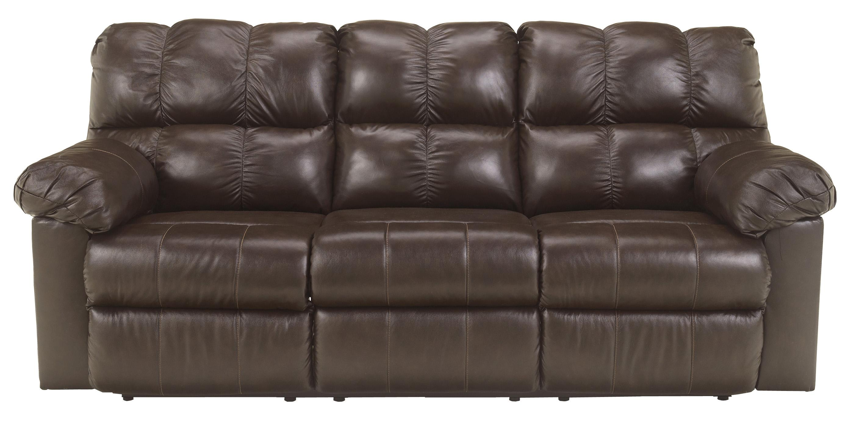 Signature Design by Ashley Kennard - Chocolate Reclining Sofa - Item Number: 2900188