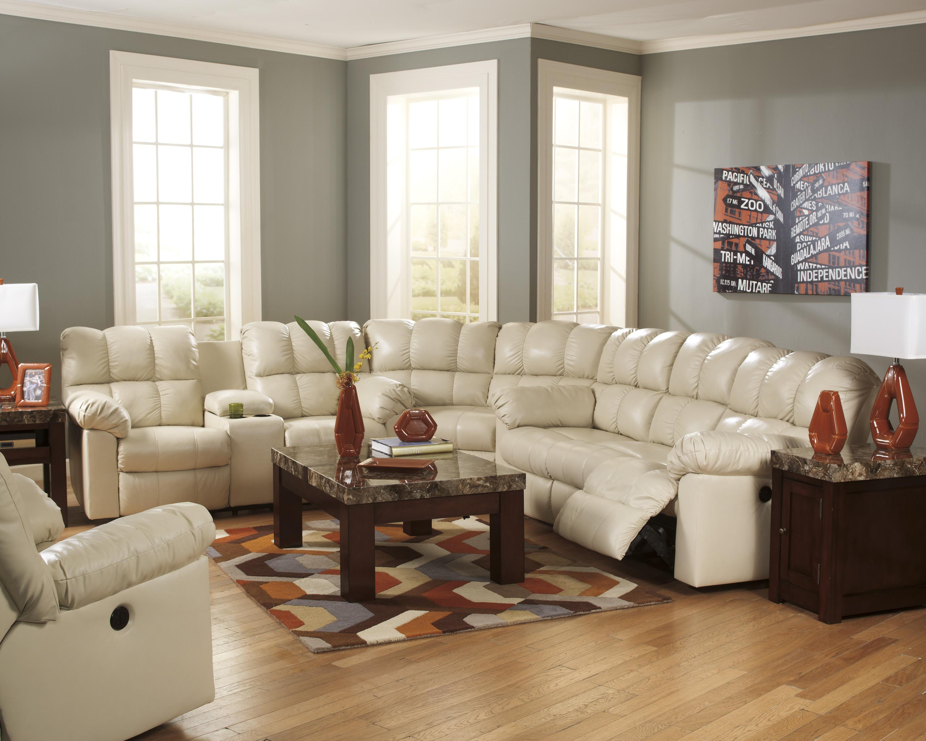 Signature Design by Ashley Kennard - Cream Reclining Living Room Group - Item Number: 29002 Living Room Group 2