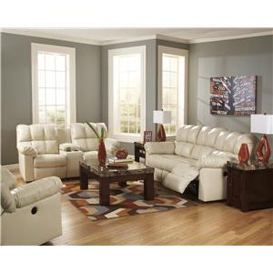 Signature Design by Ashley Kennard - Cream Reclining Living Room Group