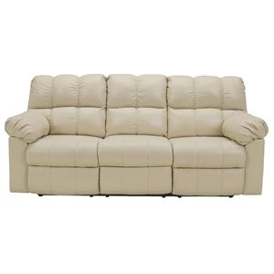 Signature Design by Ashley Kennard - Cream Reclining Sofa