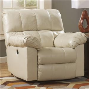 Signature Design by Ashley Kennard - Cream Power Rocker Recliner