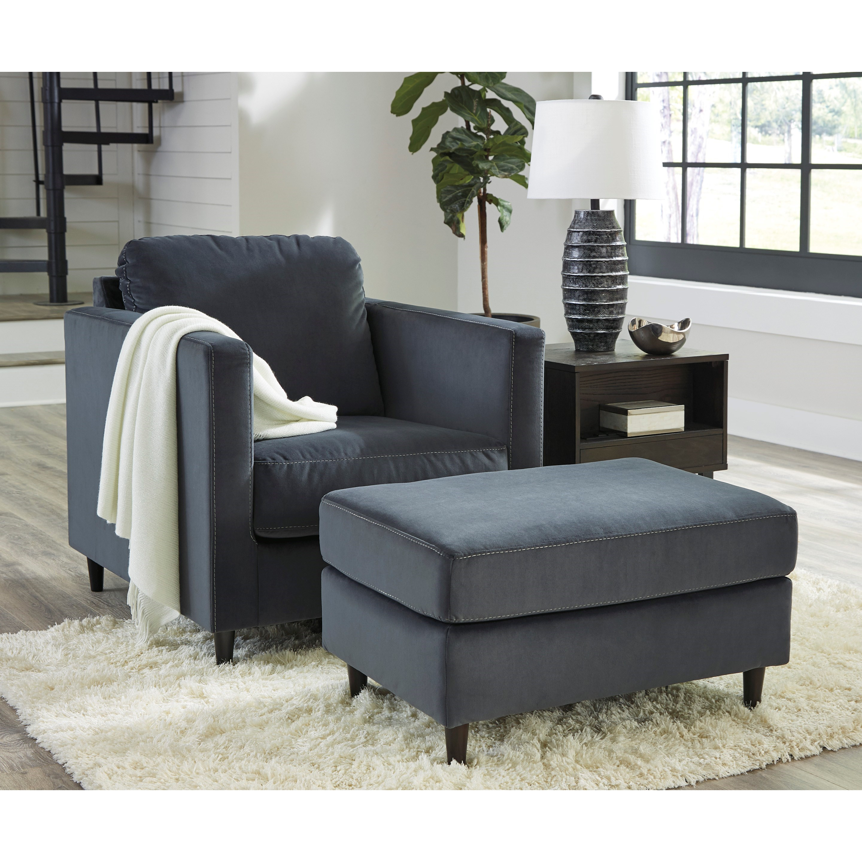 Kennewick Chair and Ottoman Set by Ashley (Signature Design) at Johnny Janosik