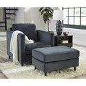 Signature Design by Ashley Kennewick Chair and Ottoman Set - Item Number: 1980320+14