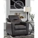 Signature Design by Ashley Kensbridge Leather Match Contemporary Chair & Ottoman
