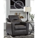 Signature Design by Ashley Kensbridge Leather Match Contemporary Chair